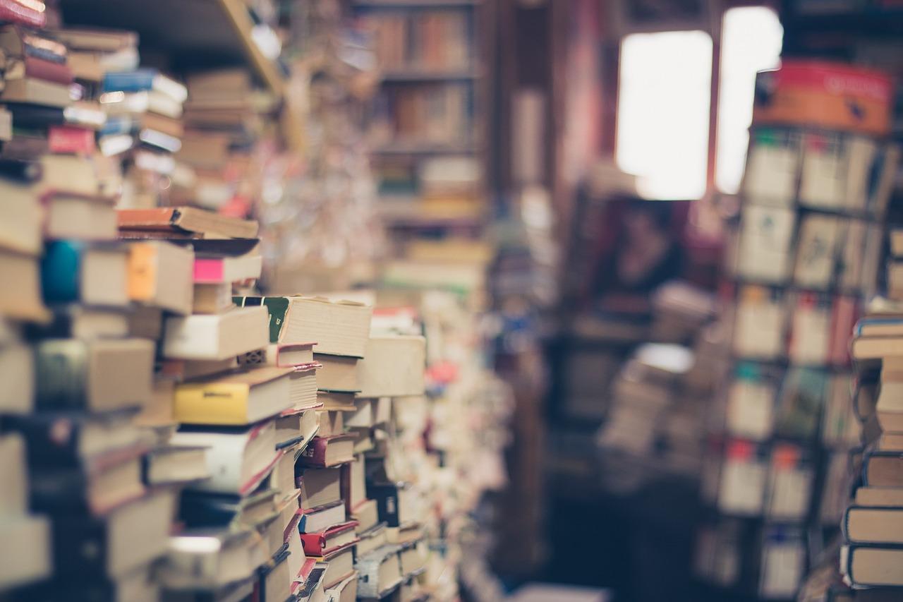 Livros, Pilha, Loja De Livros, Pilha De Livros, 2ª Mão