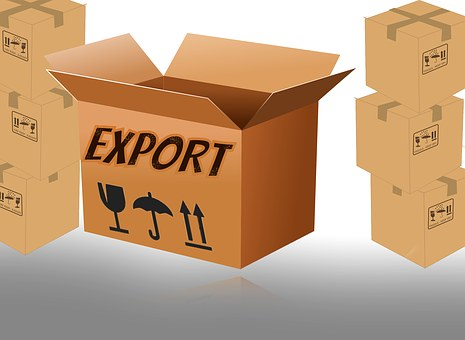Cardboard, Box, Container, Open, Export