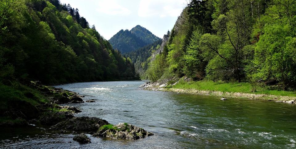 Pieniny, Góry, Krajobraz, Przyroda, Woda, Dunajec