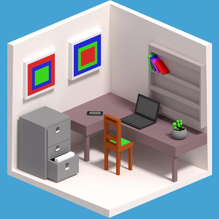 Ilustraci n gratis dibujos animados trabajo imagen for Imagenes de oficina de trabajo