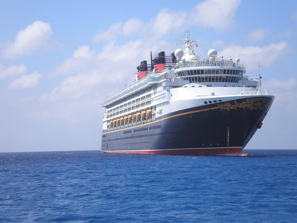 Ship, Disney, Holiday, Anchored, Cayman Island, Cruise