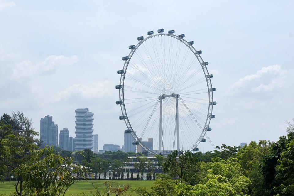 Singapore Flyer Singapur Sehir El Pixabay De Ucretsiz Fotograf