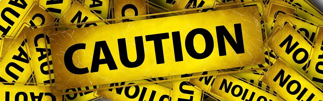 Banner, Header, Attention, Caution