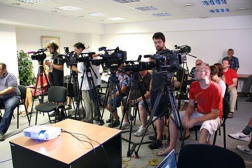 Pressekonferenz, Journalist, Medien