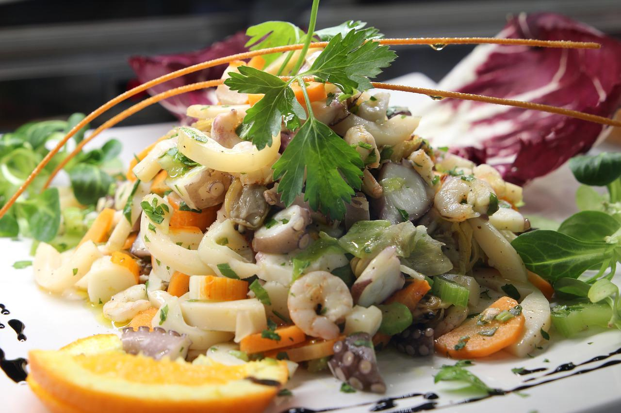 Новогодние салаты рецепты с с морепродуктами