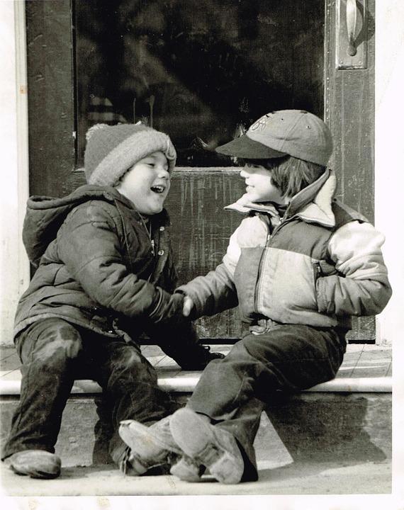 Молодой, Рукопожатие, Руки, Ретро, Старинная Фотография