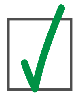 abgehakt symbol