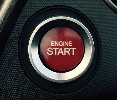 始まり, スタート, 車, 自動, 車両, クルクル回します, エンジン