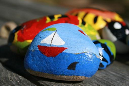 Paint Rock Drawing Painted Stone Play Summ