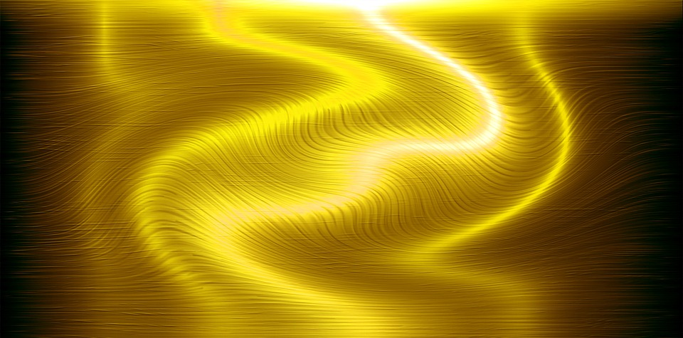 Water Gold Background Energy Light Wave Yellow