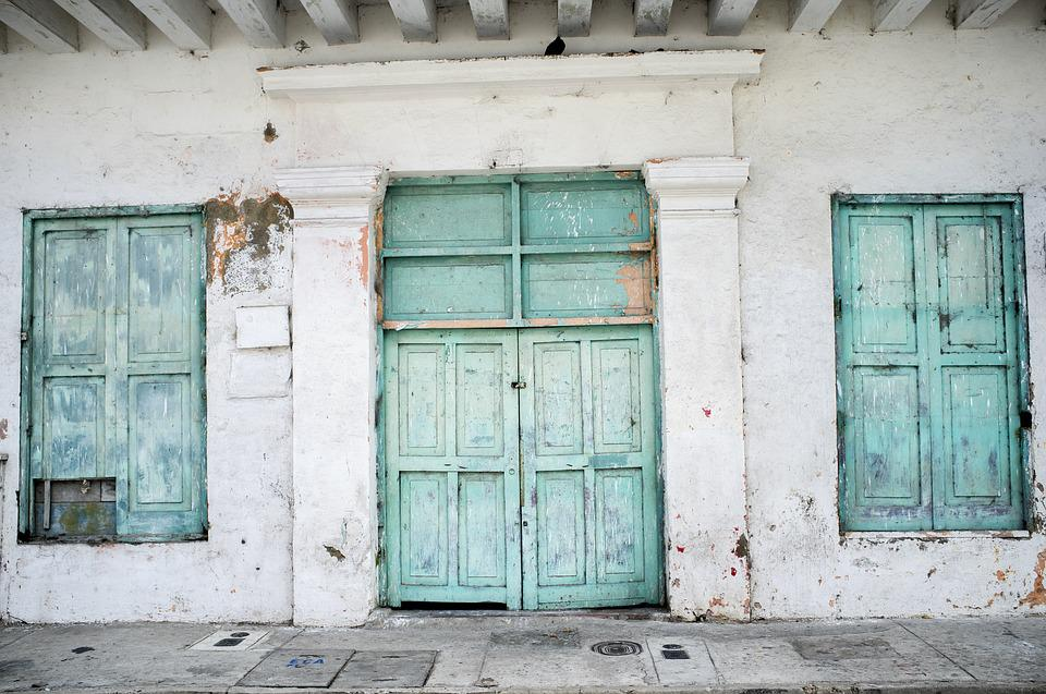 Turquoise Doors Wooden Old Painted & Cartagena - Free pictures on Pixabay pezcame.com