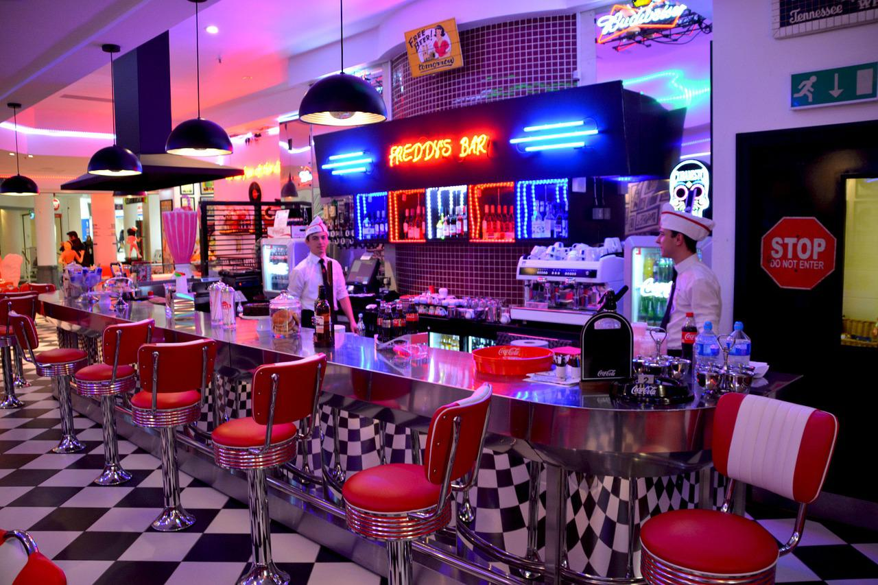 American Diner Red Chairs Cafe Free Photo On Pixabay