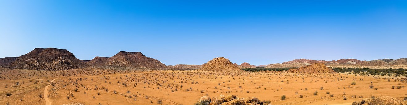 Africa, Namibia, Landscape, Dry, Heiss