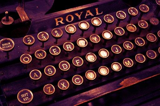 Typewriter, Vintage, Write, Letters