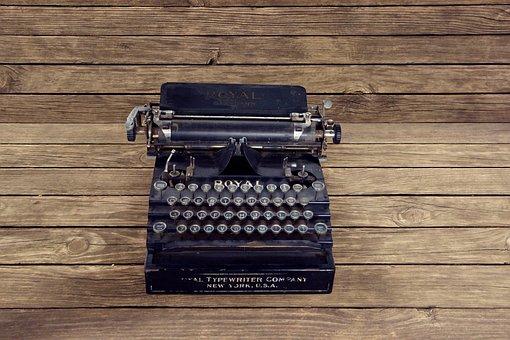 Vintage, Typewriter, Write, New York
