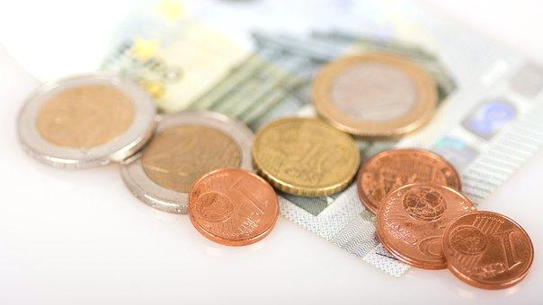 コイン, お金, 変更, ユーロ, セント, 紙幣, 通貨, 支払い, マクロ