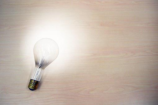 Light Bulb, Idea, Light, Dim, Bright, On