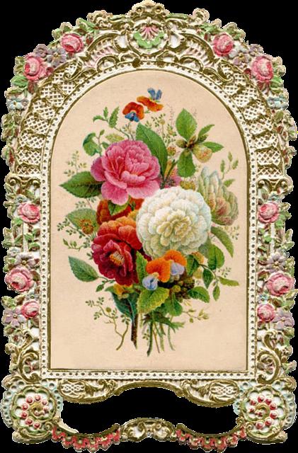 Free Illustration Ornate Vintage Frame Gold Roses