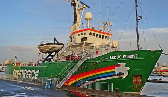 Greenpeace, Boat, Arctic Sunrise, Port