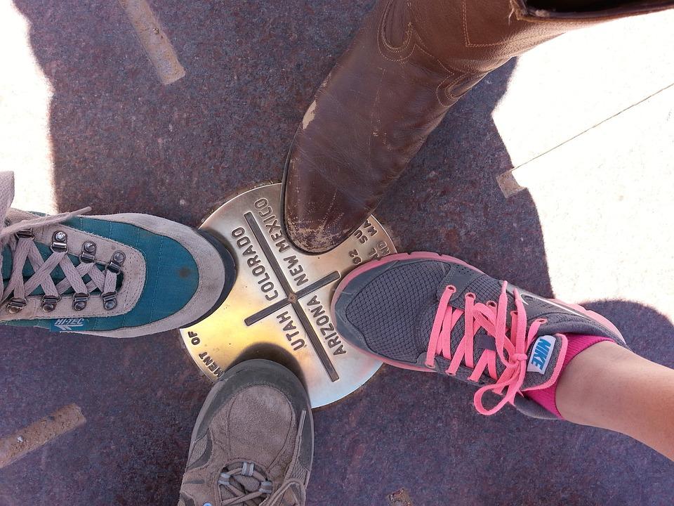 Quattro Angoli, Scarpa, Avvio, Sneaker, Lacci, Ombra