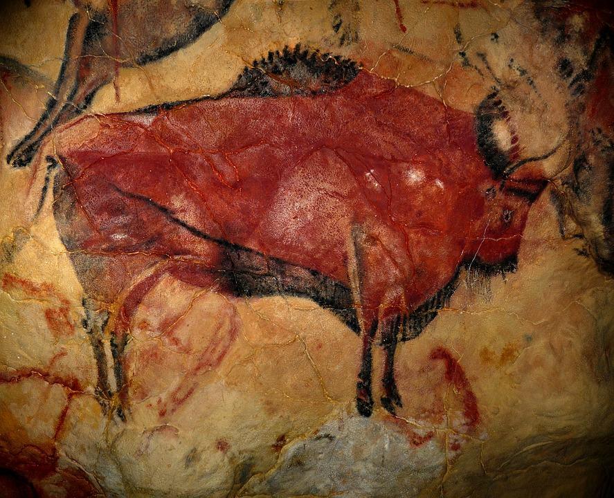 Bison, Höhle Von Altamira, Prähistorische Kunst