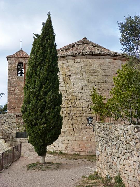Iglesia Románica, Siurana, Priorat, Ábside, Ciprés