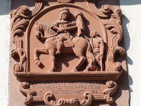 Sankt Martin, Relief, Kirche, Heiliger
