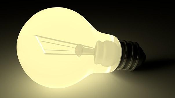 電球, 闇, 光, 輝きます, グロー