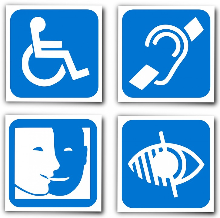Illustration gratuite handicap logo sourds image Handicapped wheelchair