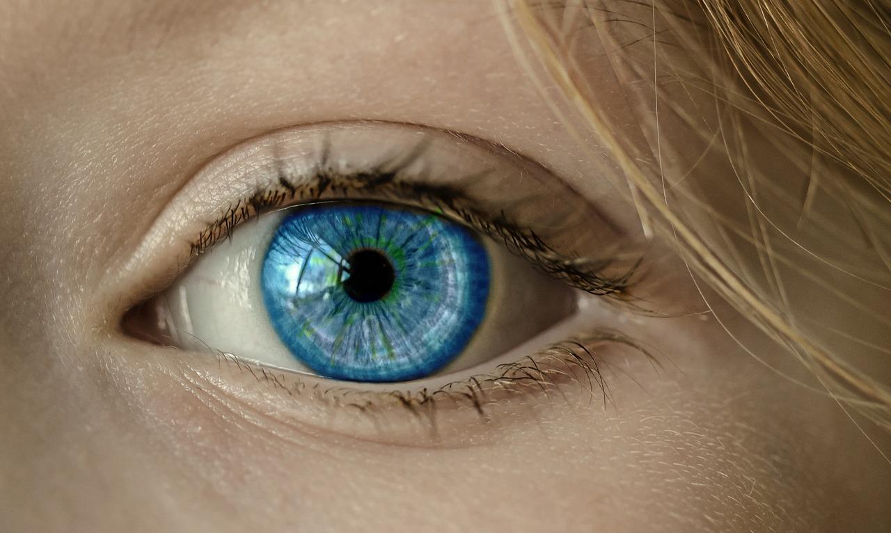 Iris of blue eye