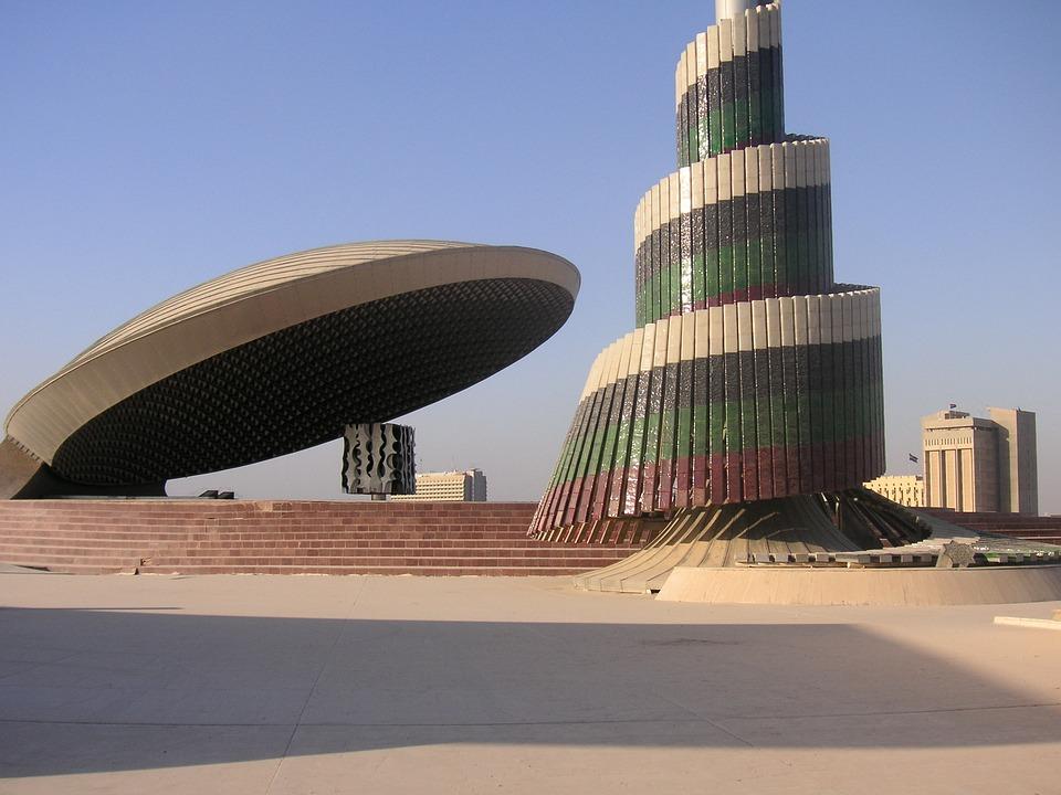 Bagdad, Irak, Wojna, Architektura, Pomnik, Monupent