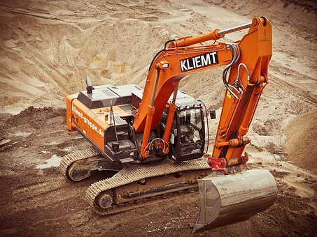 Excavators Construction Site Build Constru