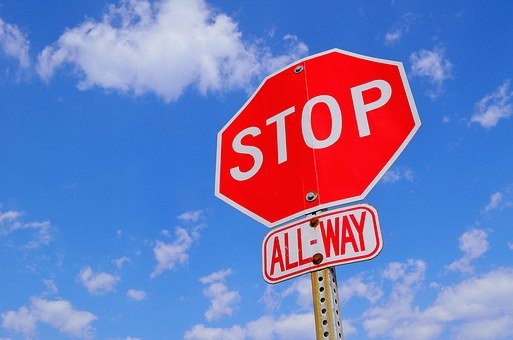 Stop Sign, Attention, Stop, Warning