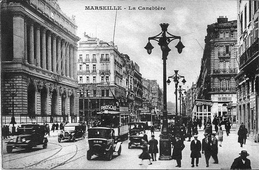 Marseille, The Canebière, France