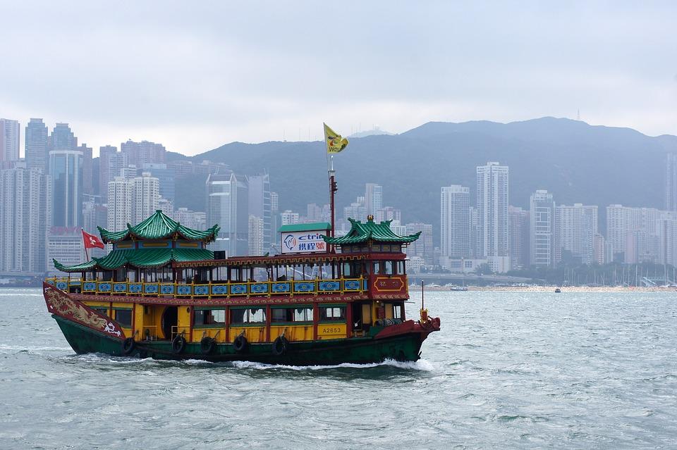 香港, 海, 船, 城市, 旅行, 亚洲, 中国, 建造, 旅游, 城市景观, 香港天际线, 天际线, 中国人