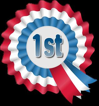 Award Ribbon, Rosette, Win, First, Won