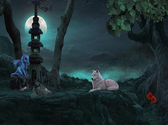 fantasy wolf moon baby 183 free image on pixabay