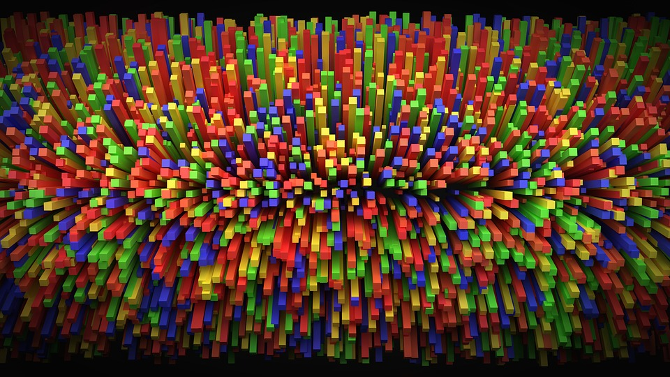 color explosion abstract cool render colorful