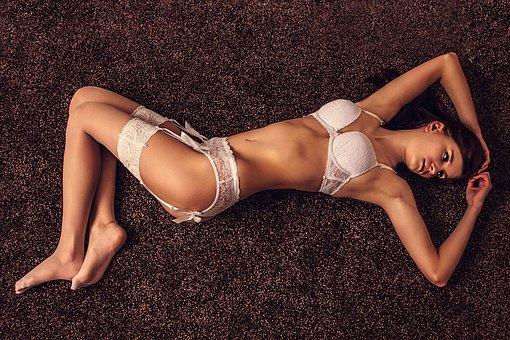 Sexy, Lingerie, Bra, Stockings, Woman