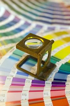 Swatches, Magnifying Glass, Printer