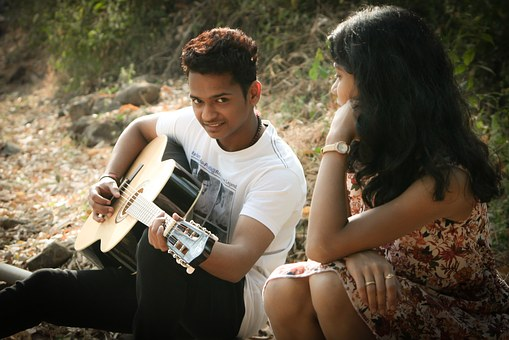 Romantic Singing Guitar Love Music Young P