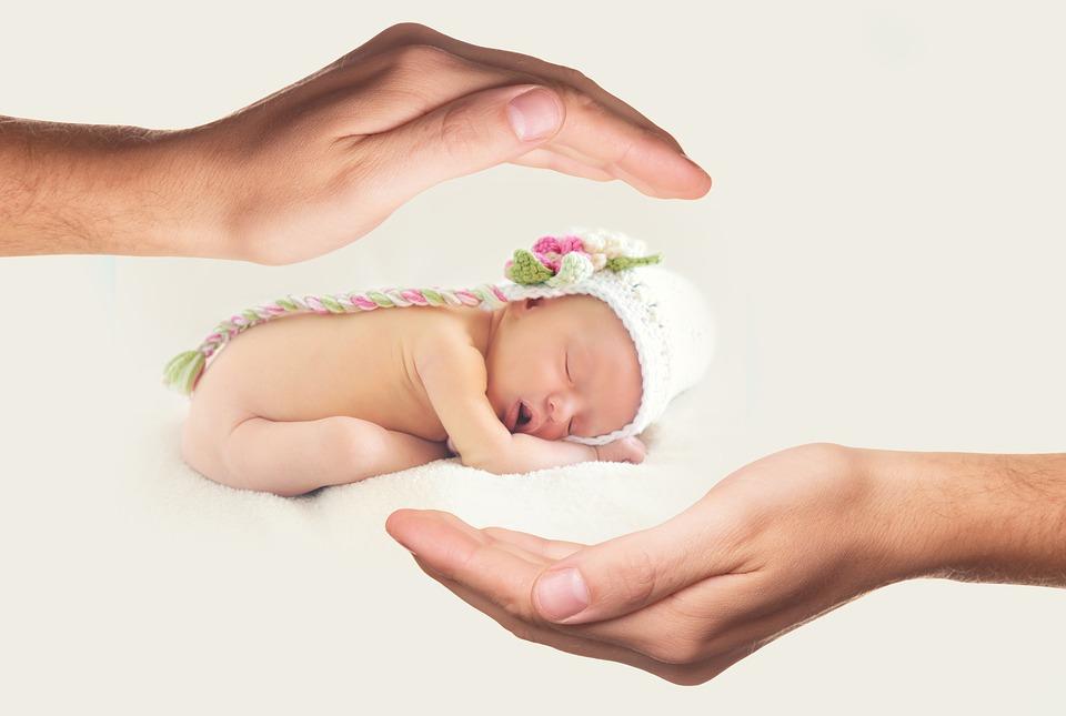 Hände, Baby, Beschützen, Neugeborenes, Niedlich