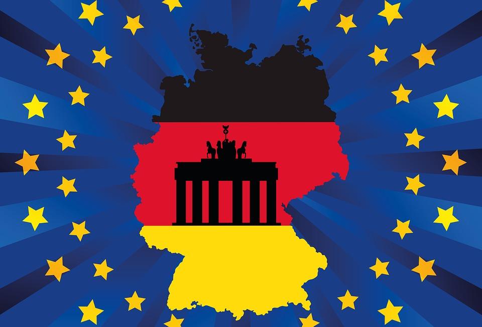 Germania, Ue, Bandiera, Europa, Nero, Rosso, Oro