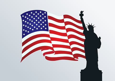 Usa, Flag, Statue Of Liberty, Freedom