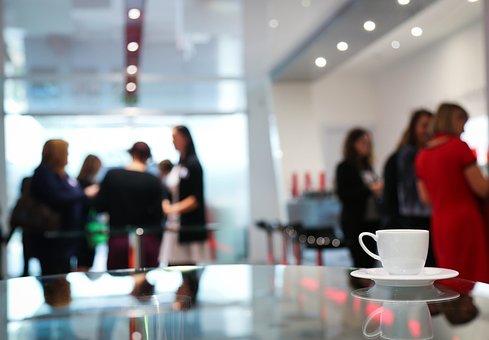 Coffee Break, Conference, Women, Meeting
