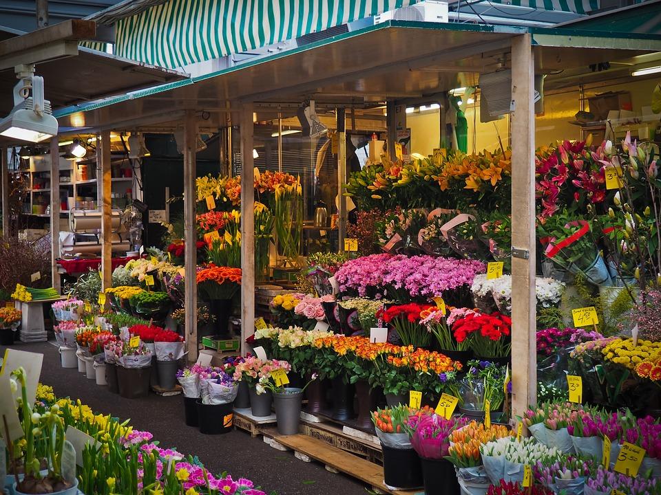 bloemen op de markt