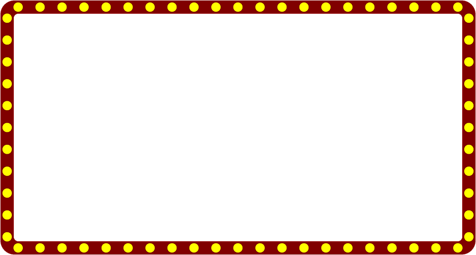 Marquee Theater Border · Free image on Pixabay