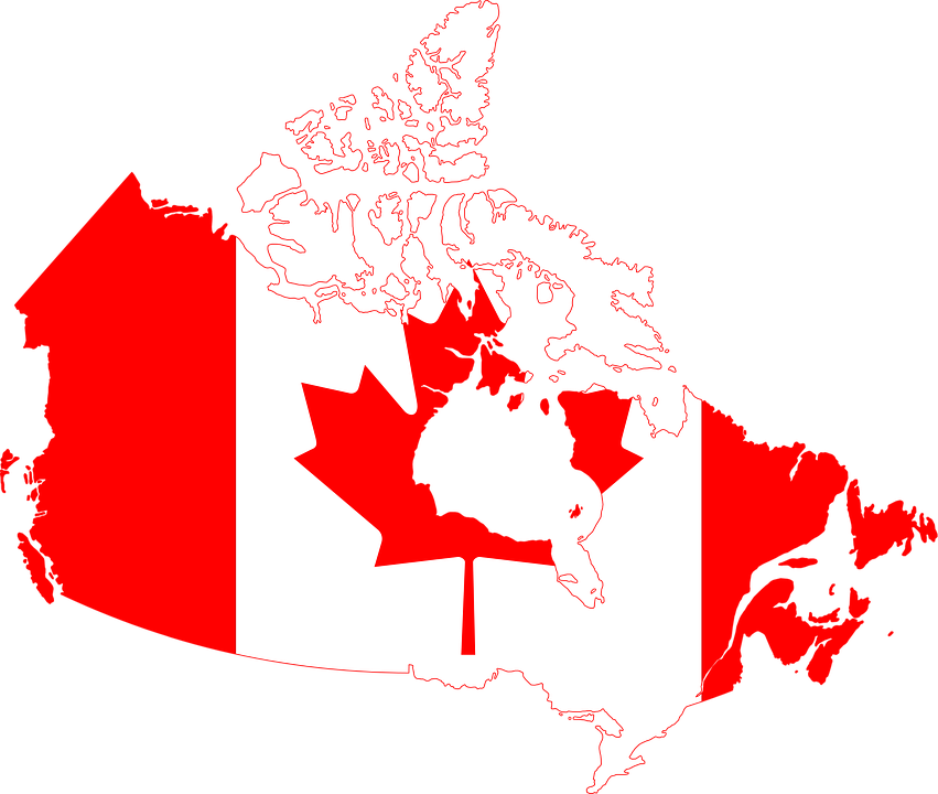 Carte Canada Png.Flag Canada Geographical Map Free Image On Pixabay