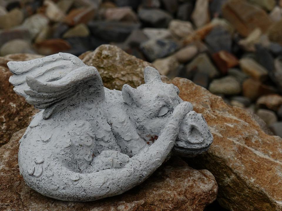 kostenloses foto: drachen, stein, gartendeko, figur - kostenloses, Garten ideen