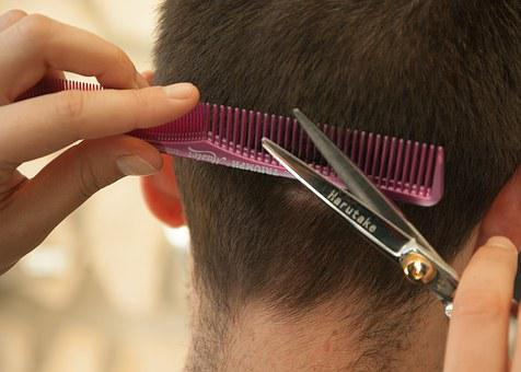 Hairdresser Hair Cut Comb Scissors Hairdre